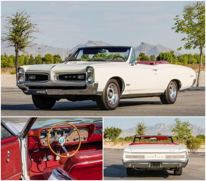 1966 PONTIAC GTO CONVERTIBLE est 75-90.000 $ 82.500 $   Mecum