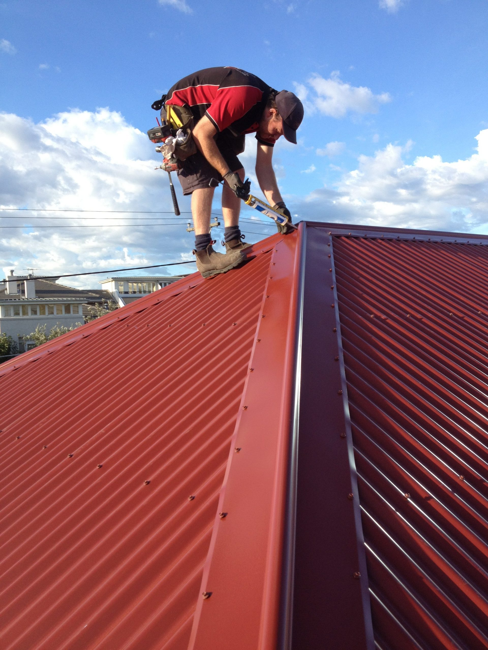 Performing the final touches to classic heritage roof in South Melbourne
