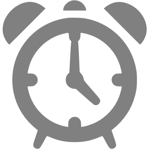 Gray Alarm Clock Icon Free