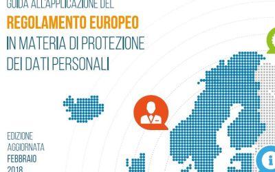Nuovo Regolamento Ue sulla privacy. Online l'aggiornamento 2018 della Guida applicativa