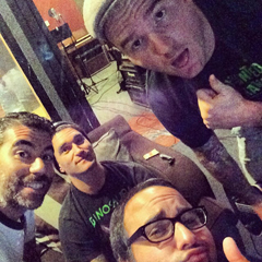 New Found Glory in the studio