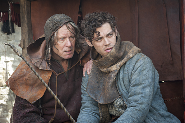 "Stellan Skarsgard and Tom Payne in ""The Physician"""