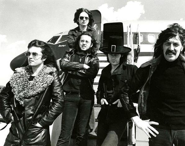 Deep Purple Mark III getting off their plane The Starship