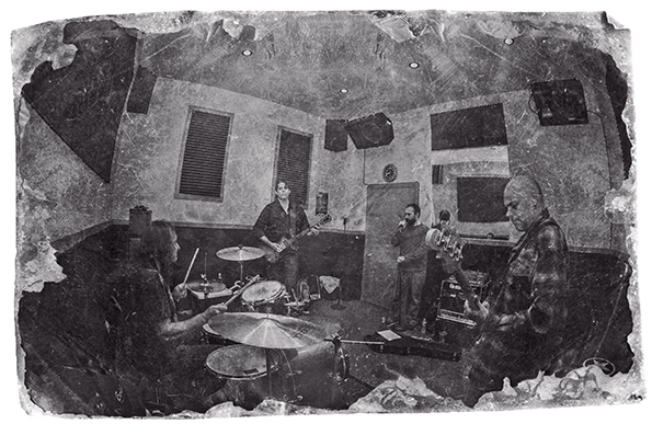 Dunsmuir in the studio creating their self-titled debut album.