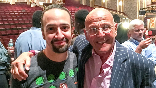 'Saved By The Bell' super-fan Lin-Manuel Miranda and Peter Engel.