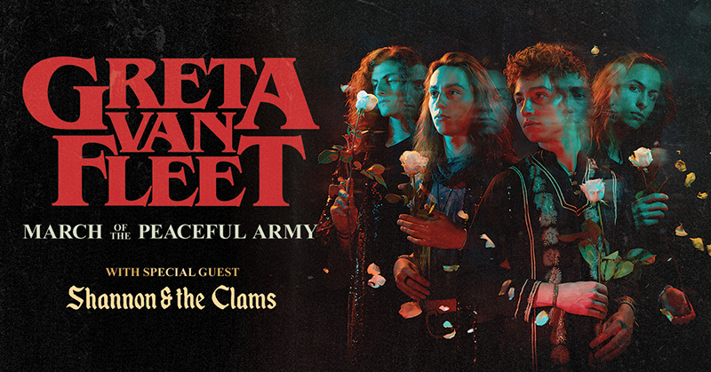 Great Van Fleet March of The Peaceful Army Tour