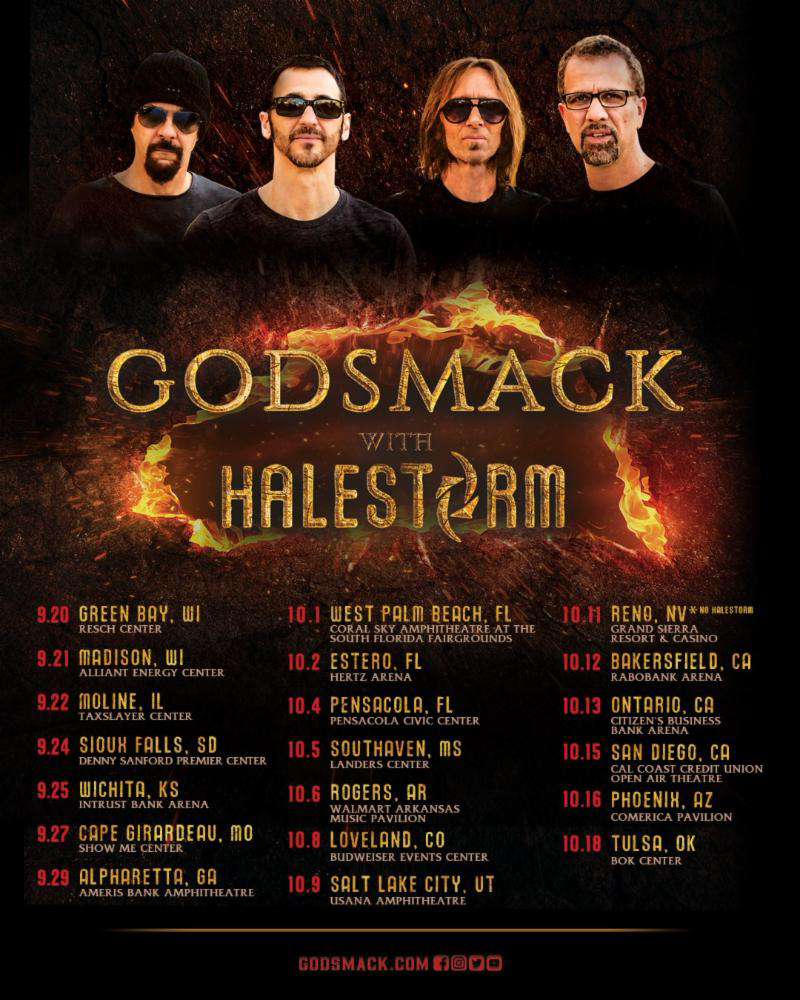 Godsmack and Halestorm 2019