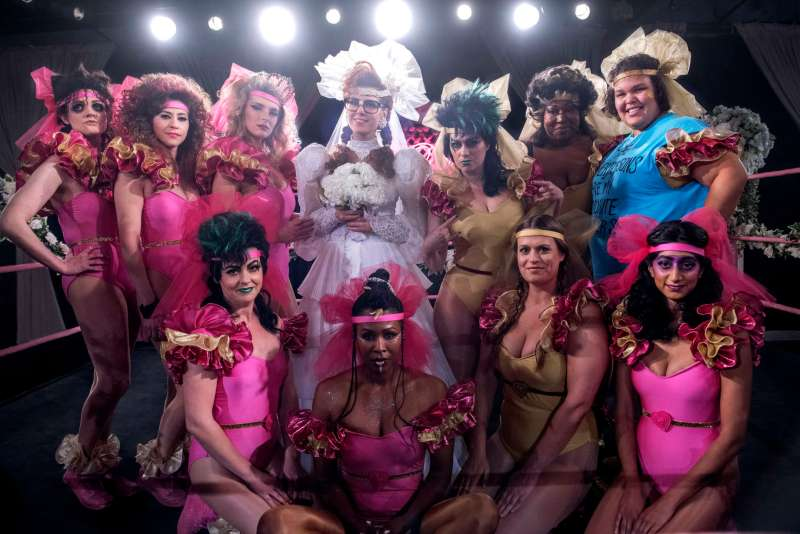 Rebekka Johnson and the cast of Netflix's GLOW