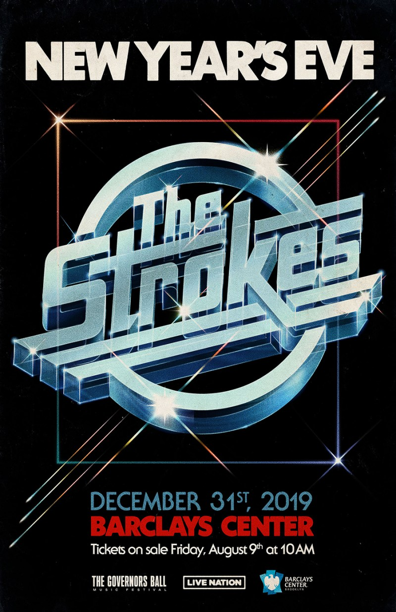 The Strokes - New Year's Eve Gig Poster