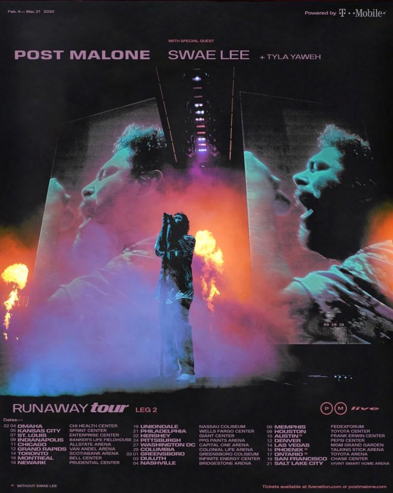 Post Malone Runaway Tour 2020