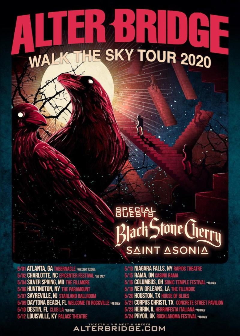 Alter Bridge - Walk The Sky Summer Tour 2020