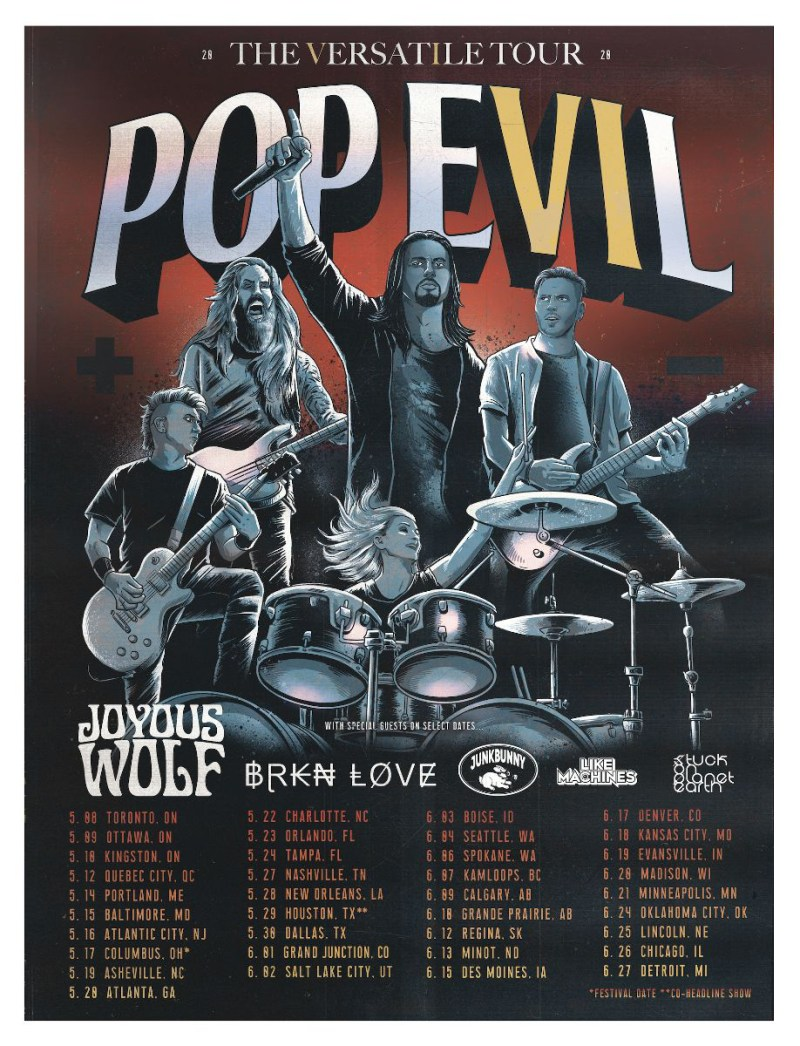 POP EVIL - The Versatile Tour
