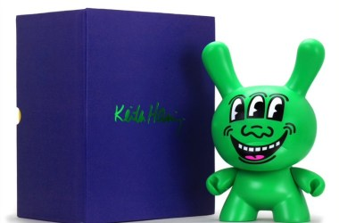 """Kidrobot Announces the Keith Haring Masterpiece Three Eyed Face 8"""" Dunny"""