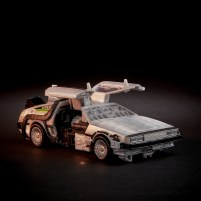 """When fans of the iconic Back to the Future Time Machine look a little closer at this nostalgic interpretation of the car, they will be treated to a new """"robot in disguise"""" named GIGAWATT, a converting time machine robot. The figure is available for pre-sale now on Walmart.com."""