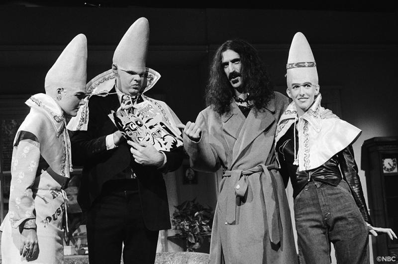 Jane Curtin, Dan Aykroyd, Frank Zappa and Laraine Newman on 'Saturday Night Live.'