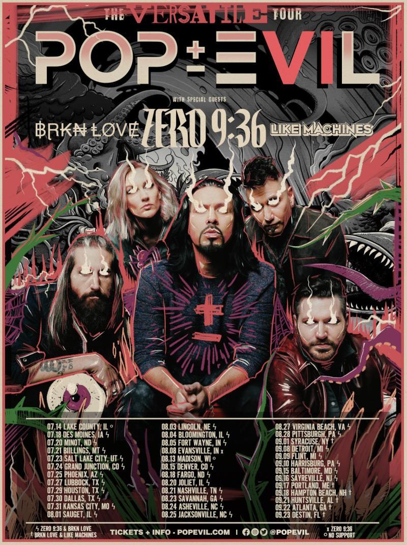 POP EVIL Announce Headlining 2021 U.S. Tour 'The Versatile Tour'