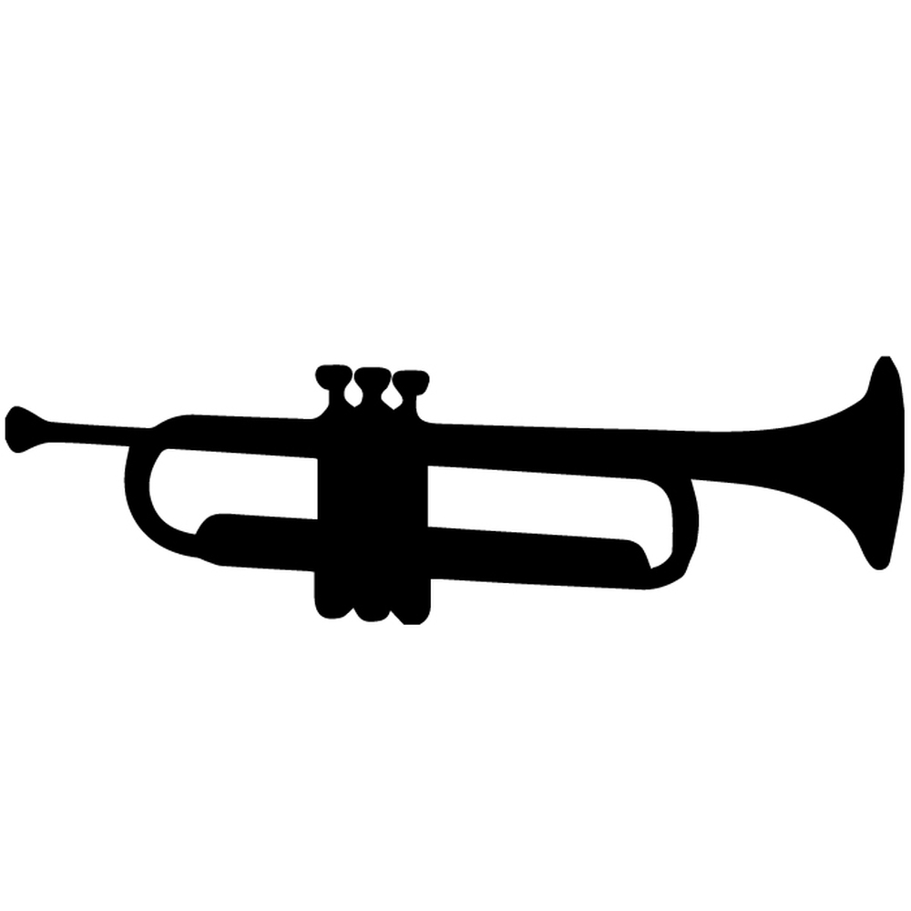 Trumpet Silhouette Wall Stickers Creative Multi Pack Wall