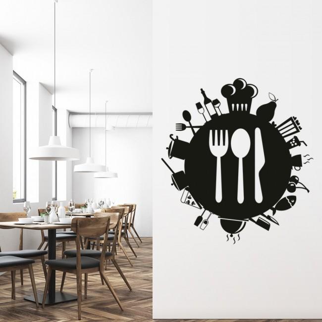 Food Planet Wall Sticker Food Wall Art