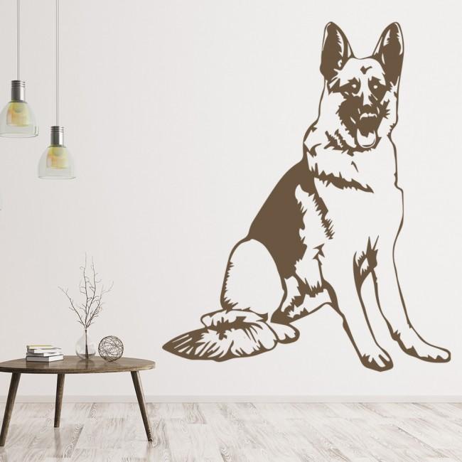 German Shepherd Dog Canine Pets Wall Sticker