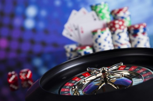 Casino Roulette Wall Mural Wallpaper