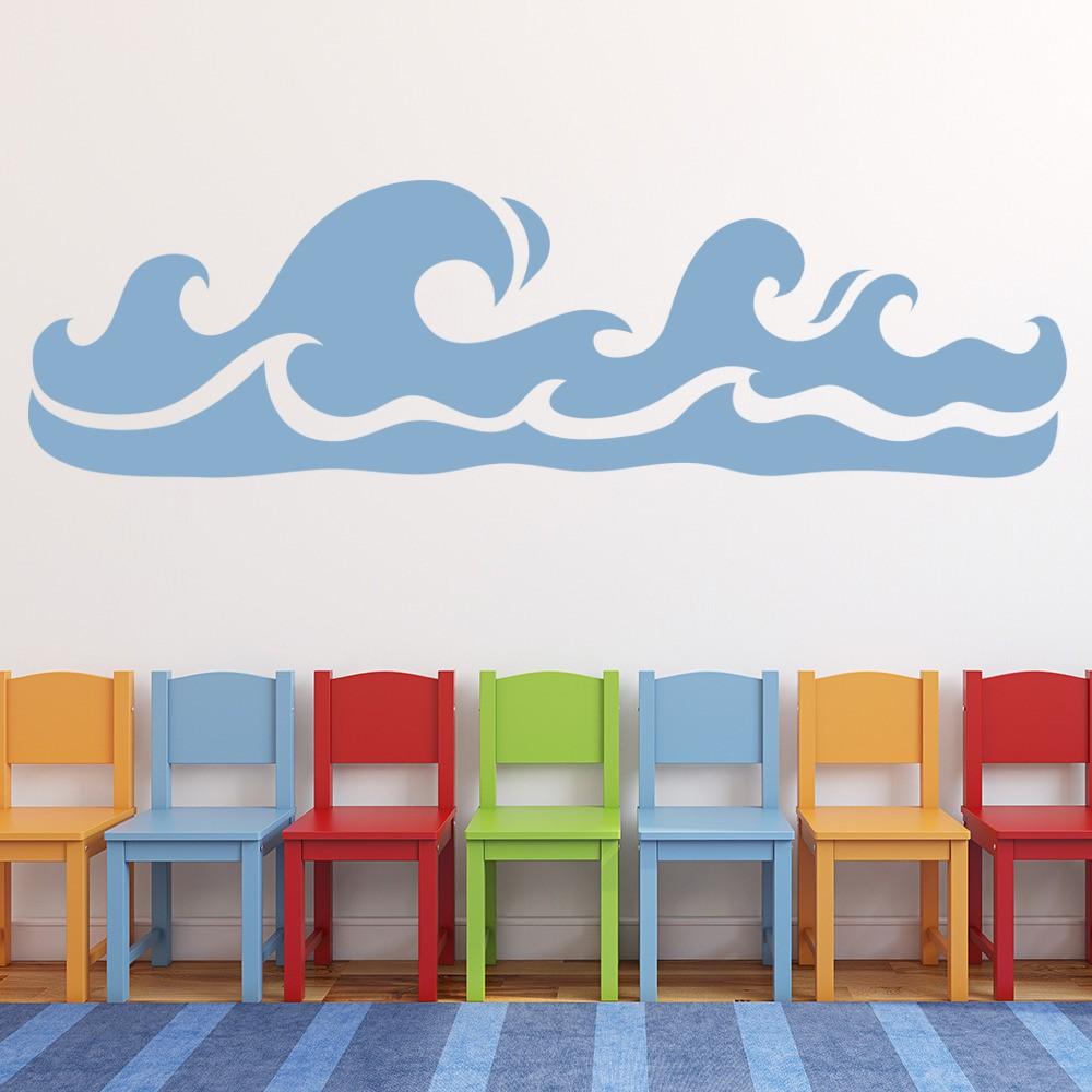 Rolling Waves Wall Sticker Sea Wall Art