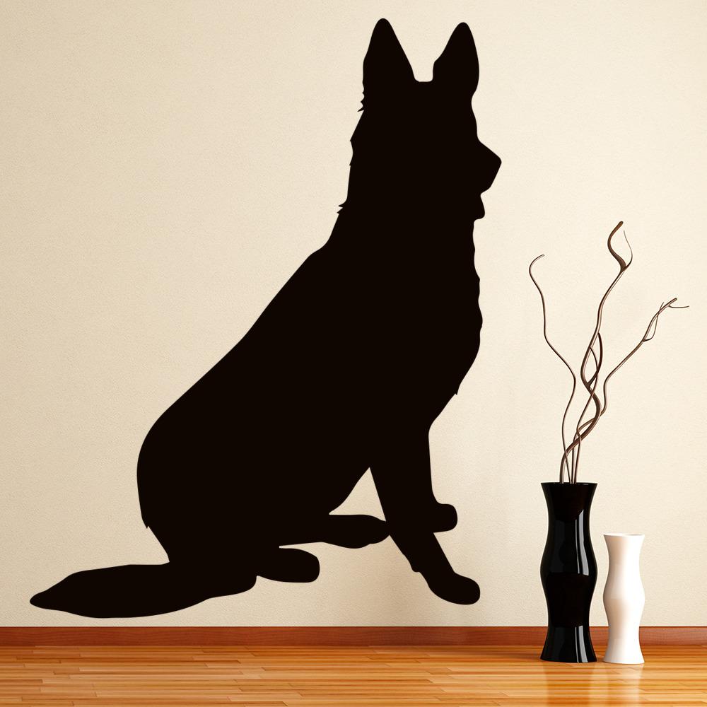 German Shepherd Silhouette Wall Sticker Dog Wall Art