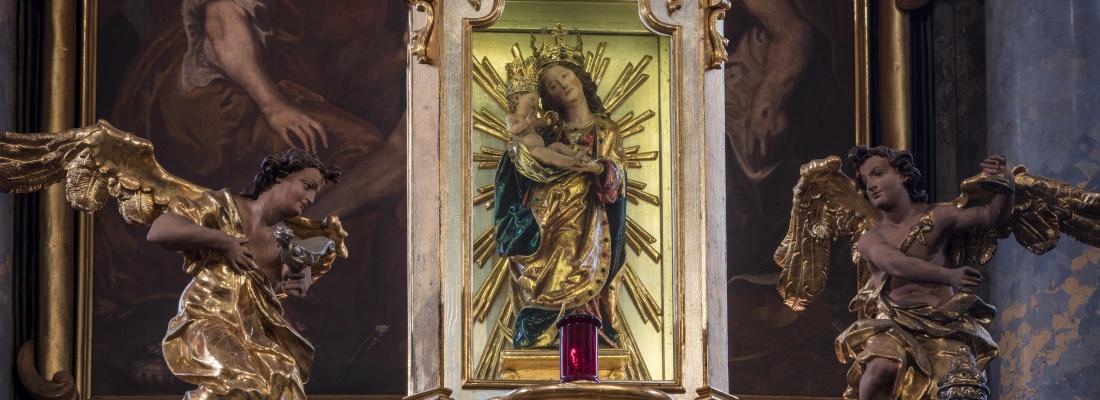 Panna Maria Věrná Ostrov kostel sv. Michaela a Panny Marie Věrné - originál