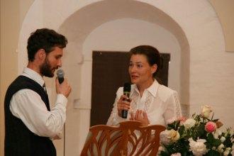 Участники вечера Михаил Благодар и Станислава Полонская