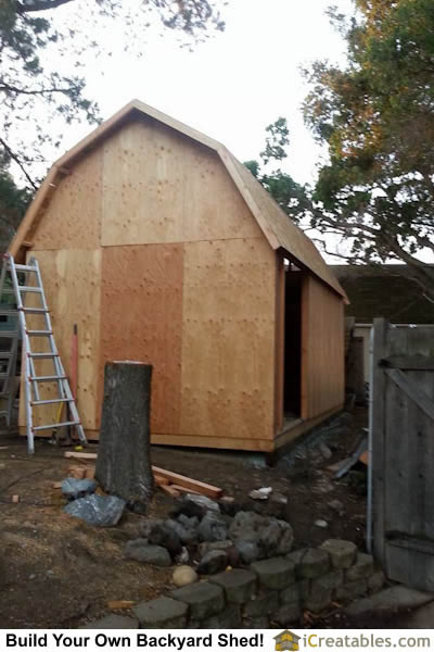 12x20 Gambrel Small Barn Shed Built In California