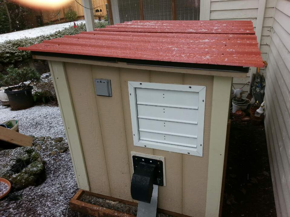 5x3 Generator Shed Built With Door On Roof
