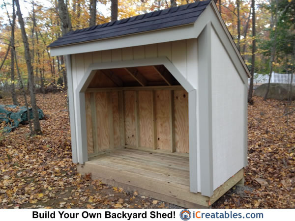 4x8 Firewood Shed Plans OutdoorGarden Sheds ICreatables