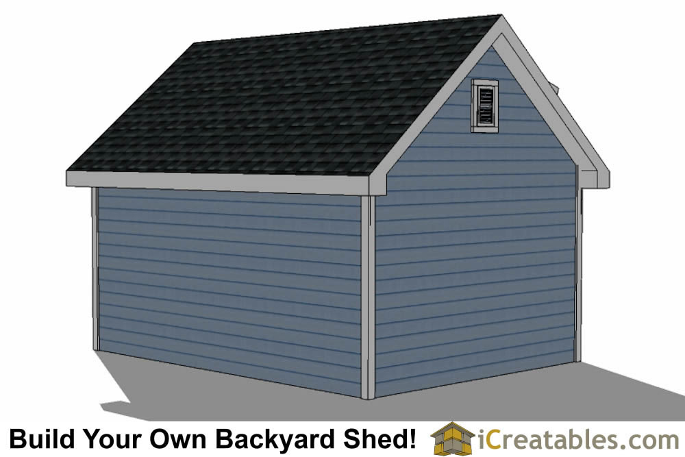 12x16 Shed Plans With Dormer