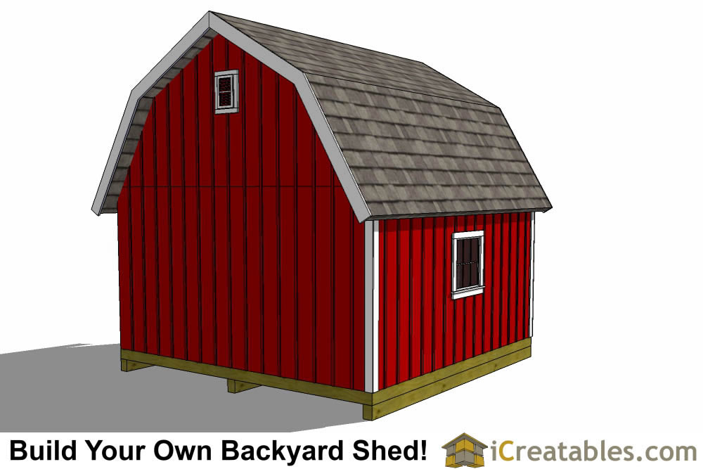 16x16 Gambrel Shed Plans 16x16 Barn Shed Plans