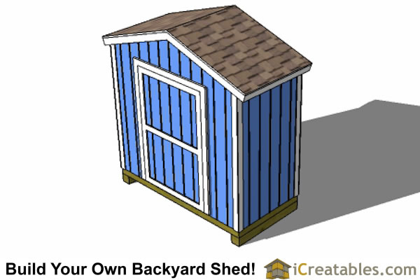 8x4 Backyard Shed Plans