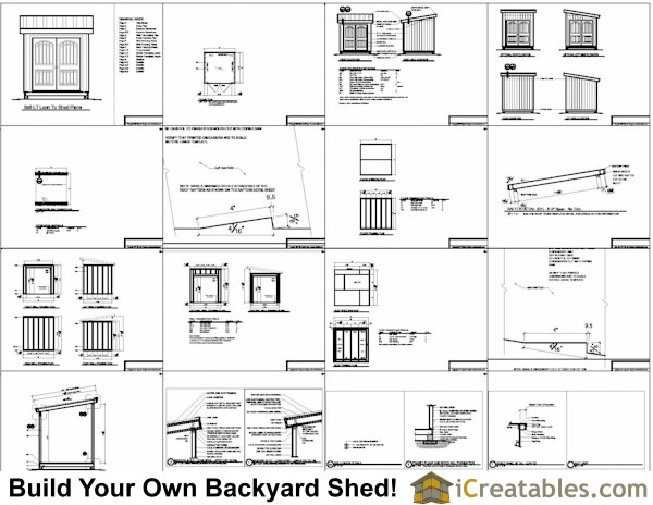 8x8 Lean To Storage Shed Plans I nclude The Following
