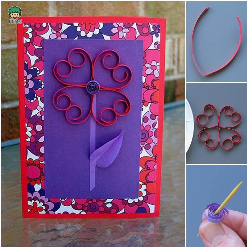 DIY 3D Flower Valentines Day Card
