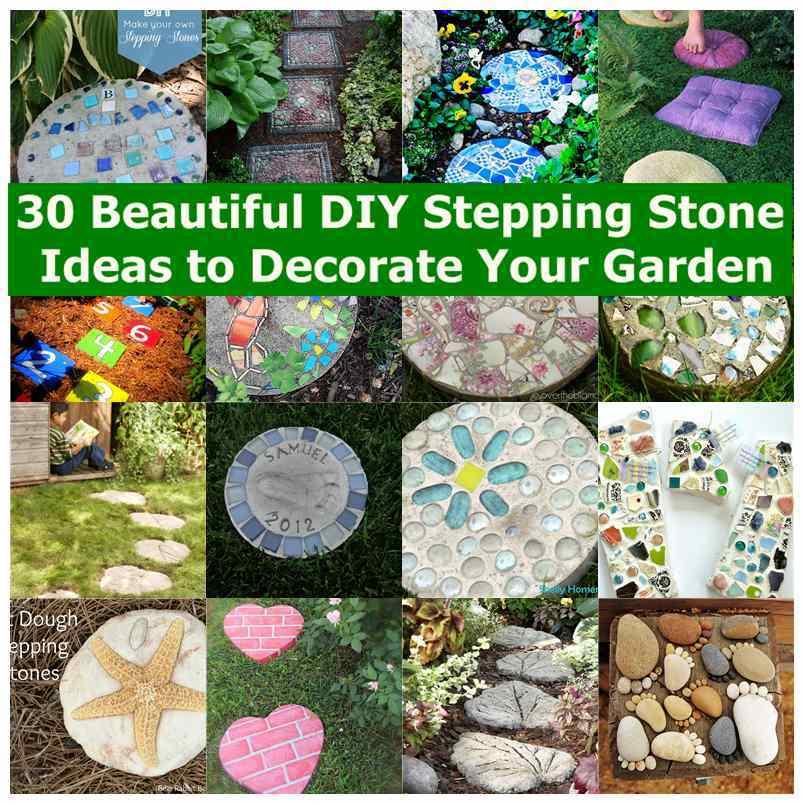 DIY Mosaic Tile Garden Stepping Stones | iCreativeIdeas.com on Stepping Stone Patio Ideas  id=58552