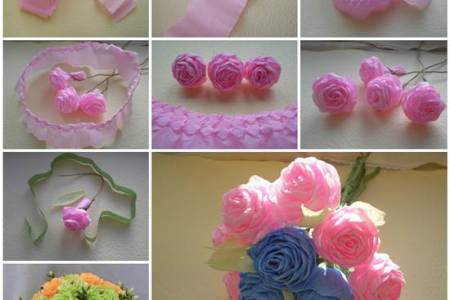 Instructions patterns for crepe paper flowers beautiful flowers paper flowers with diy templates and tutorials paper flower tutorial videos roundup how to make a crepe paper rose favecrafts com assorted colors of crepe mightylinksfo