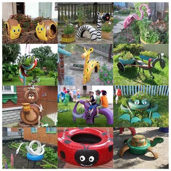 Creative Ideas - DIY Lovely Frog Garden Decor from Old Tires on Diy Garden Decor  id=54629