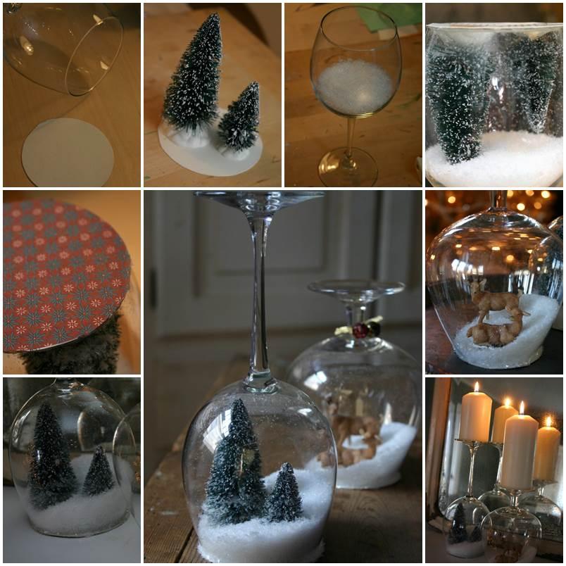 Creative Ideas DIY Waterless Snow Globes For Christmas