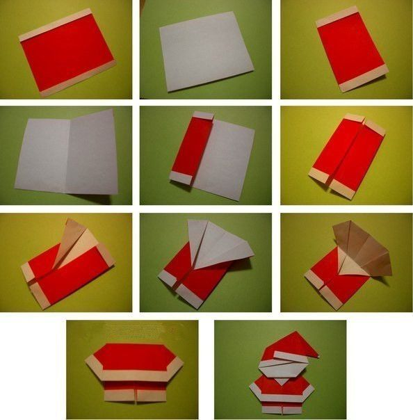 Creative Ideas DIY Cute Origami Santa