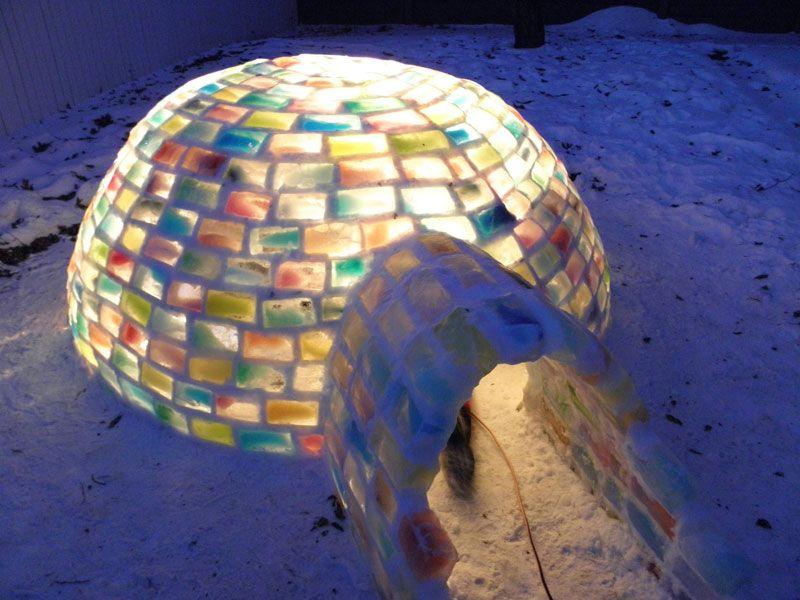 Creative Ideas How To Build A Rainbow Igloo Using Milk