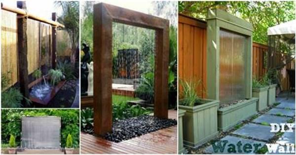 Creatve Ideas - DIY Stunning Outdoor Water Wall on Backyard Feature Walls  id=54966