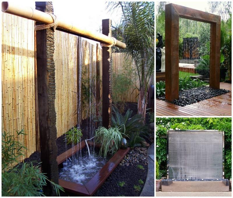 Creatve Ideas - DIY Stunning Outdoor Water Wall ... on Backyard Feature Walls  id=69360