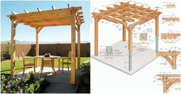 Creative Ideas - DIY Backyard Pergola on Diy Back Patio Ideas id=49306