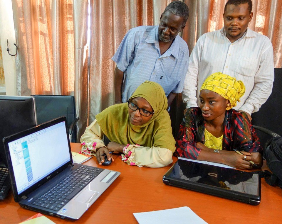Staff and Students of Bayero University of Kano during the APSIM course Photo: ICRISAT