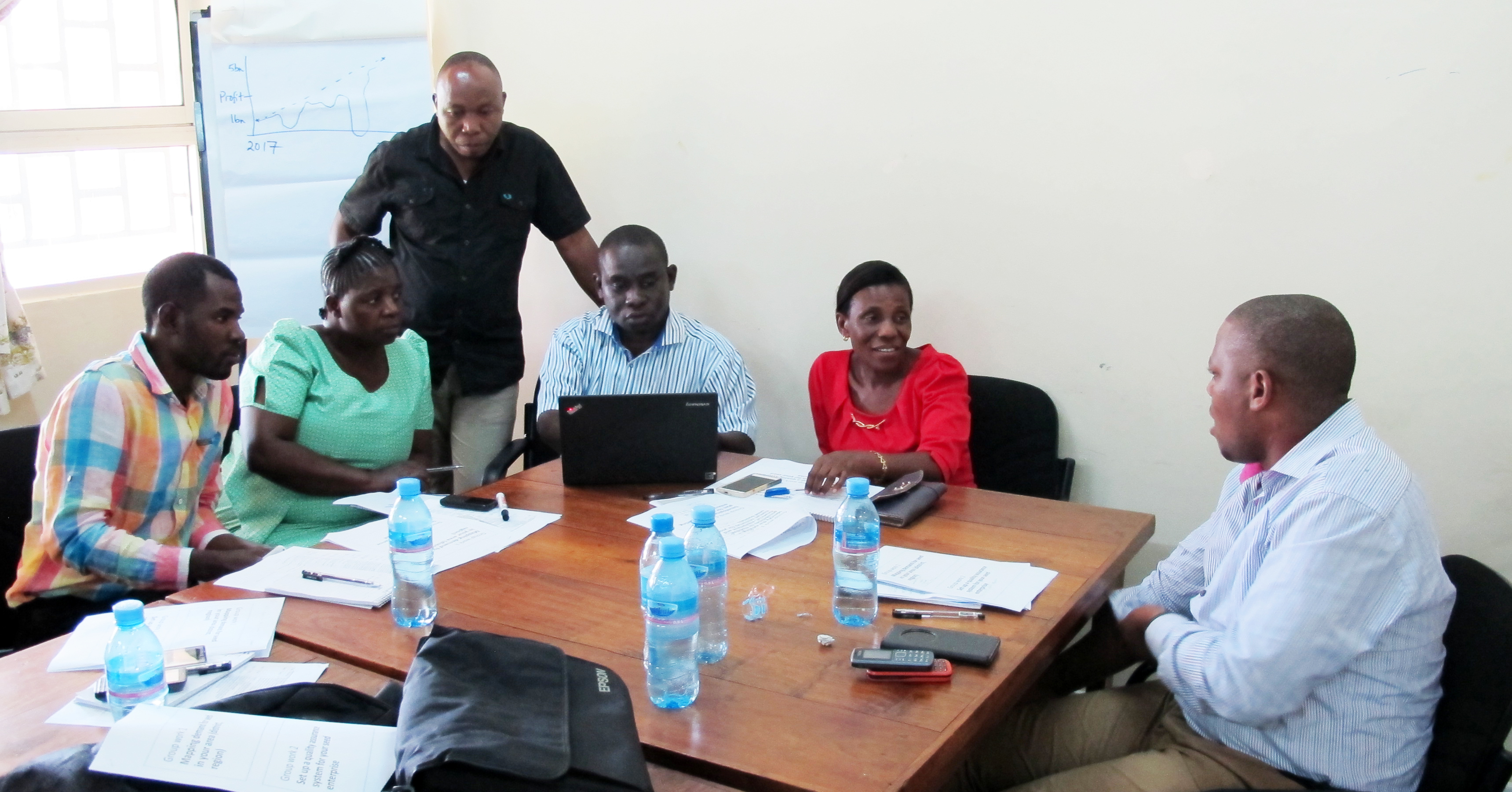 Group discussion during the training. Photo: ICRISAT