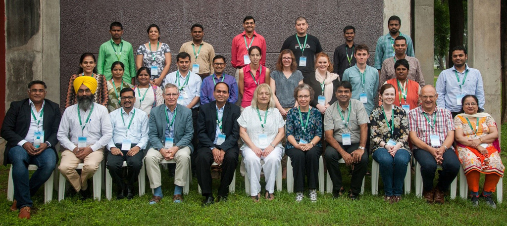 The CINTRIN team at ICRISAT. Photo: PS Rao, ICRISAT