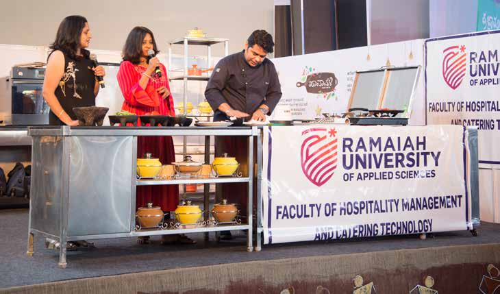 Cooking competitions and demonstrations were organized by MS Ramaiah University of Applied Sciences (MSRUAS), Bengaluru.
