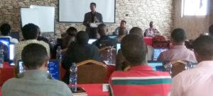 Dr Tilahun Amede, Country Representative, ICRISAT-Ethiopia, addressing participants. Photo: ICRISAT